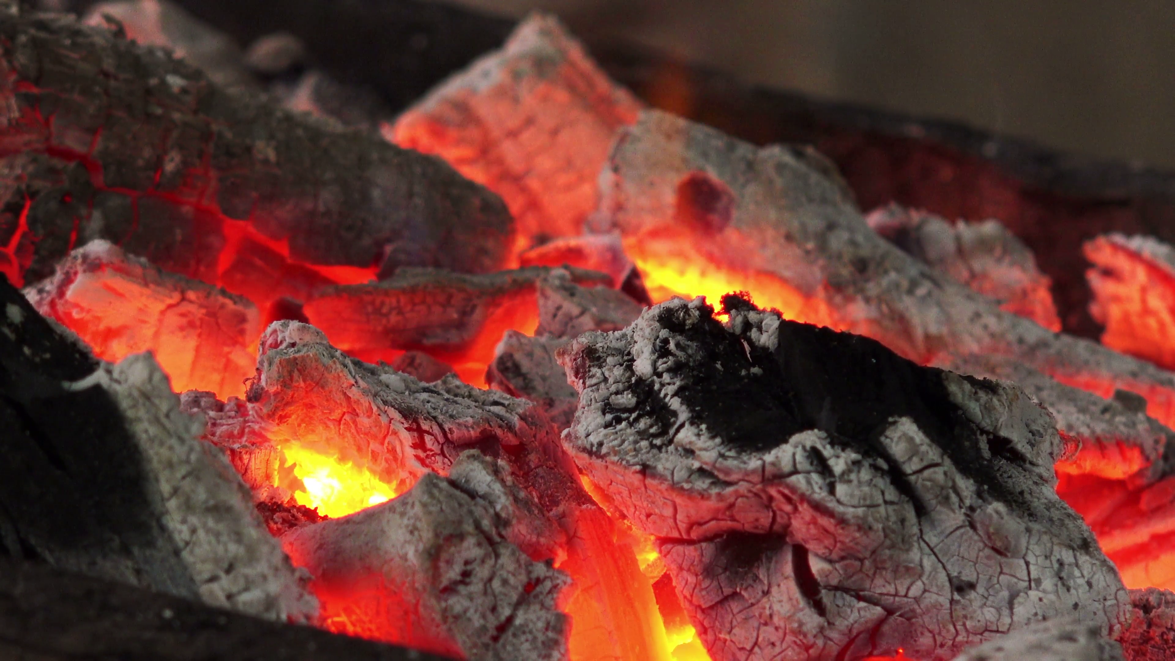 Firewood And Hot Coal In A Grill, Fire Burning For The Meat Cooked. Stock  Video Footage - VideoBlocks - Burning Coal PNG