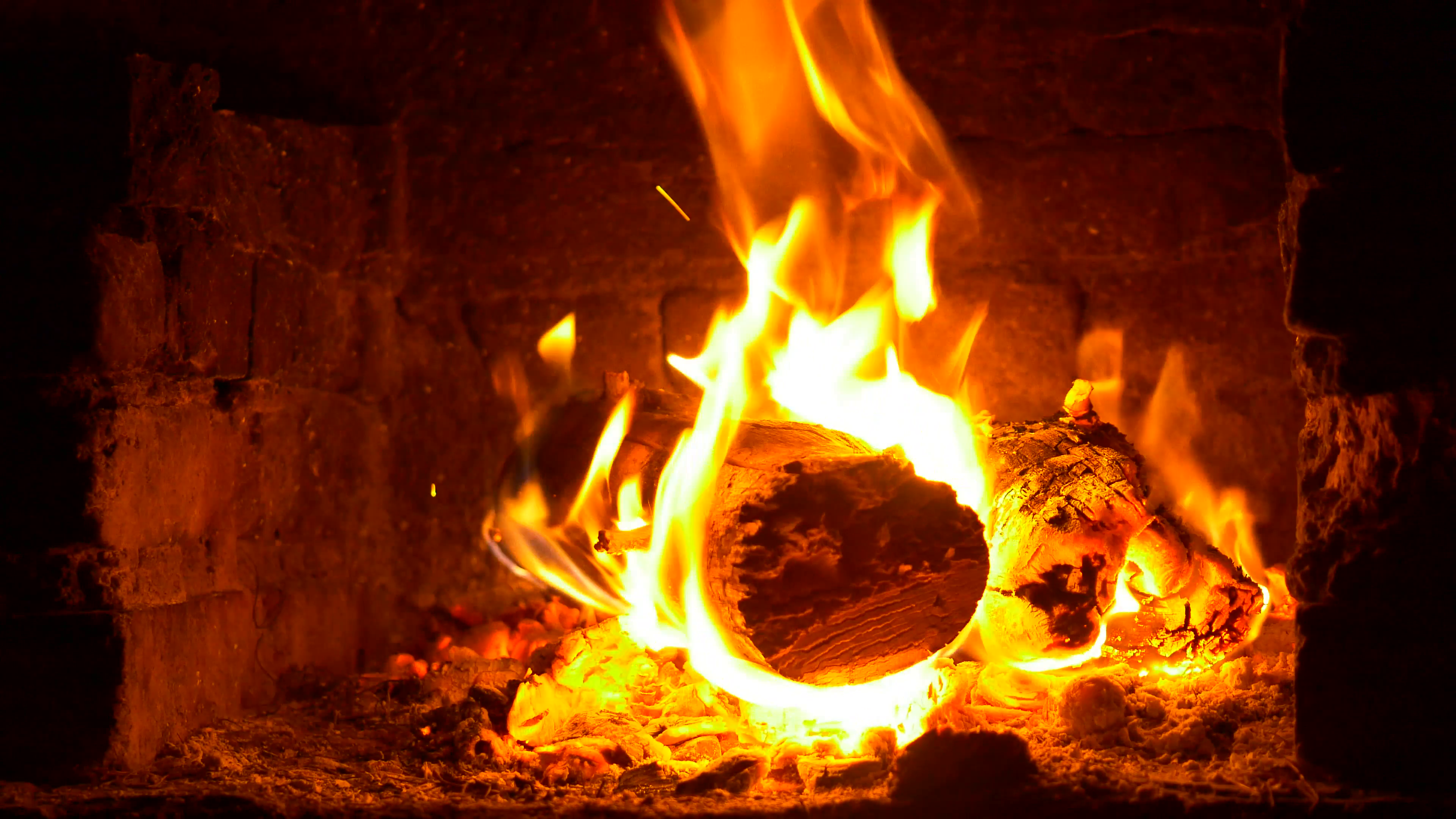 A Warm Fire In A Chimney. 4K. Burning Wood In The Fireplace And The Flames  Stock Video Footage - VideoBlocks - Burning Wood PNG