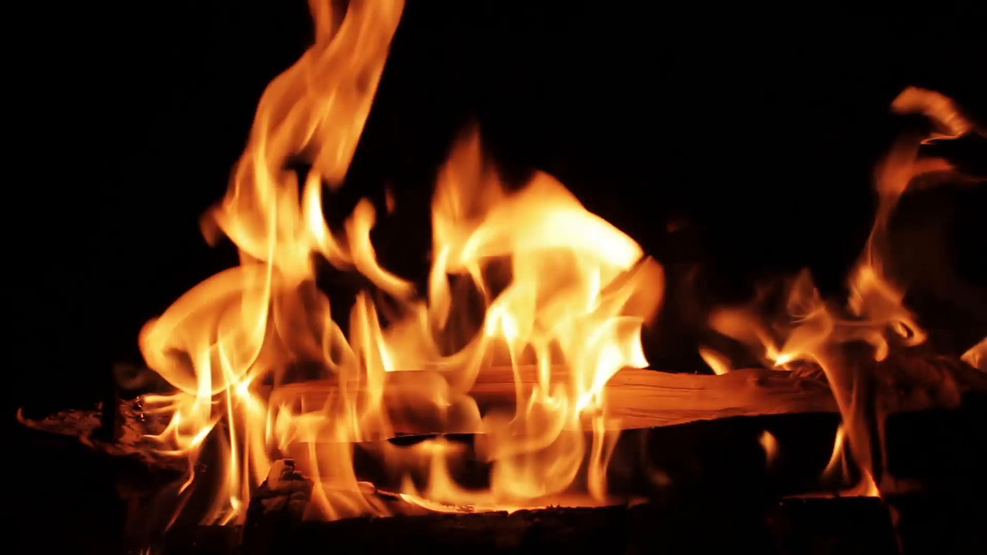 Bonfire Night, Burning Wood On Black Background Stock Video Footage -  VideoBlocks - Burning Wood PNG