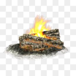 Burning Wood - Burning Wood PNG