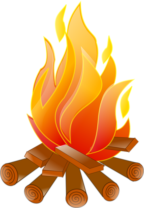 Burning Wood PNG