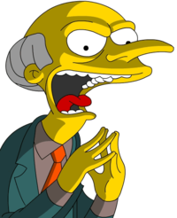 Mr. Burns in his typical evil mood - Burns PNG