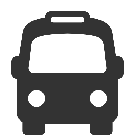 black-white-android-bus - Bush PNG Black And White