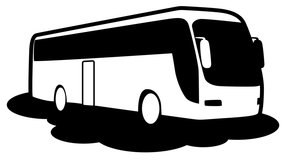 Commercial Bus Operators - Bush PNG Black And White