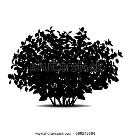 Bush PNG Black And White - 151868