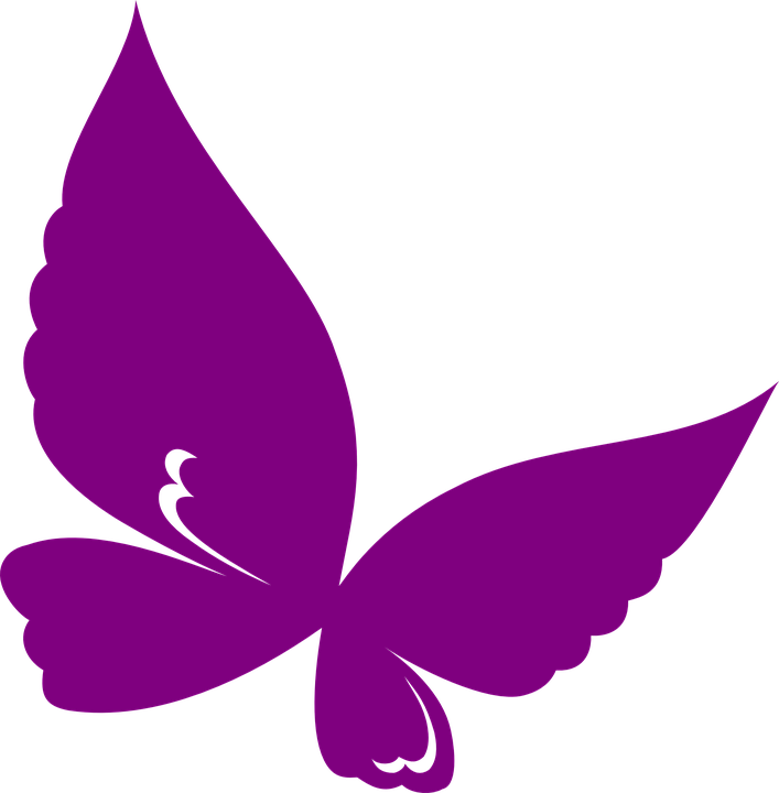 Butterfly, Design, Spring, Summer, Purple, Silhouette - Butterfly Design PNG