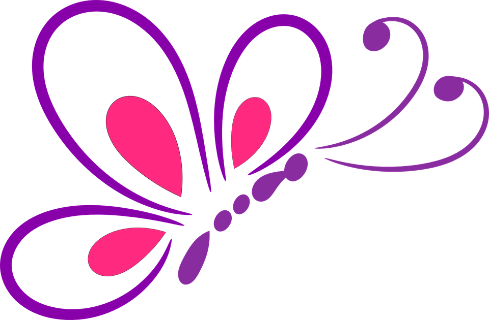 Butterfly Outline Design Insect - Butterfly Design PNG