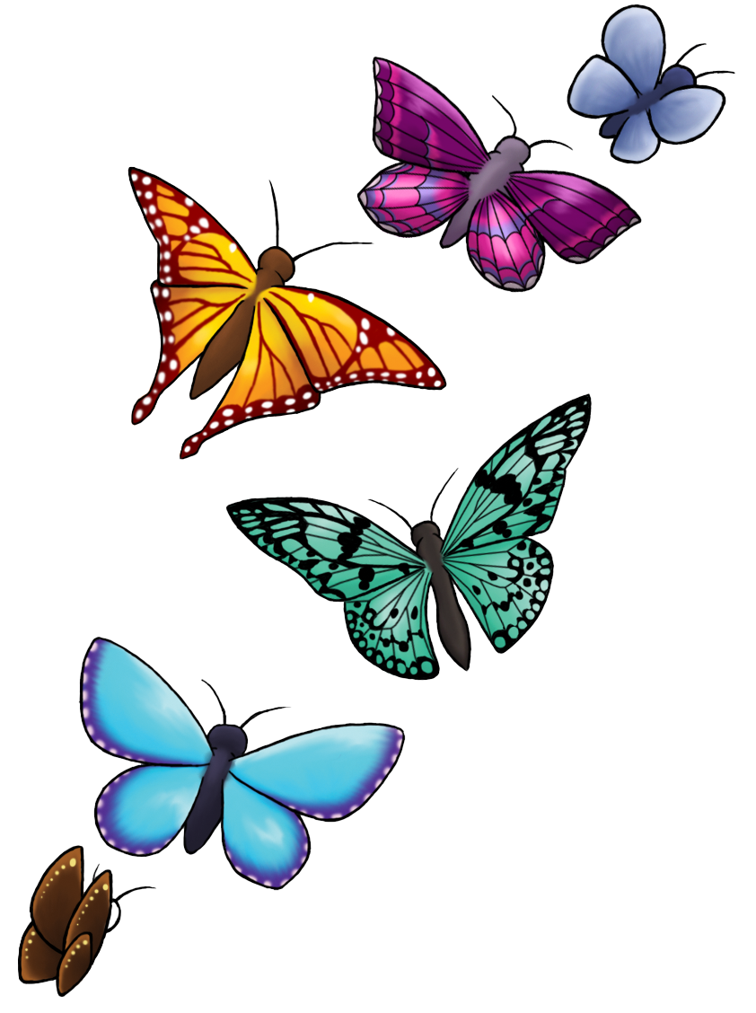 Real Art Design Group : Butterfly design png transparent