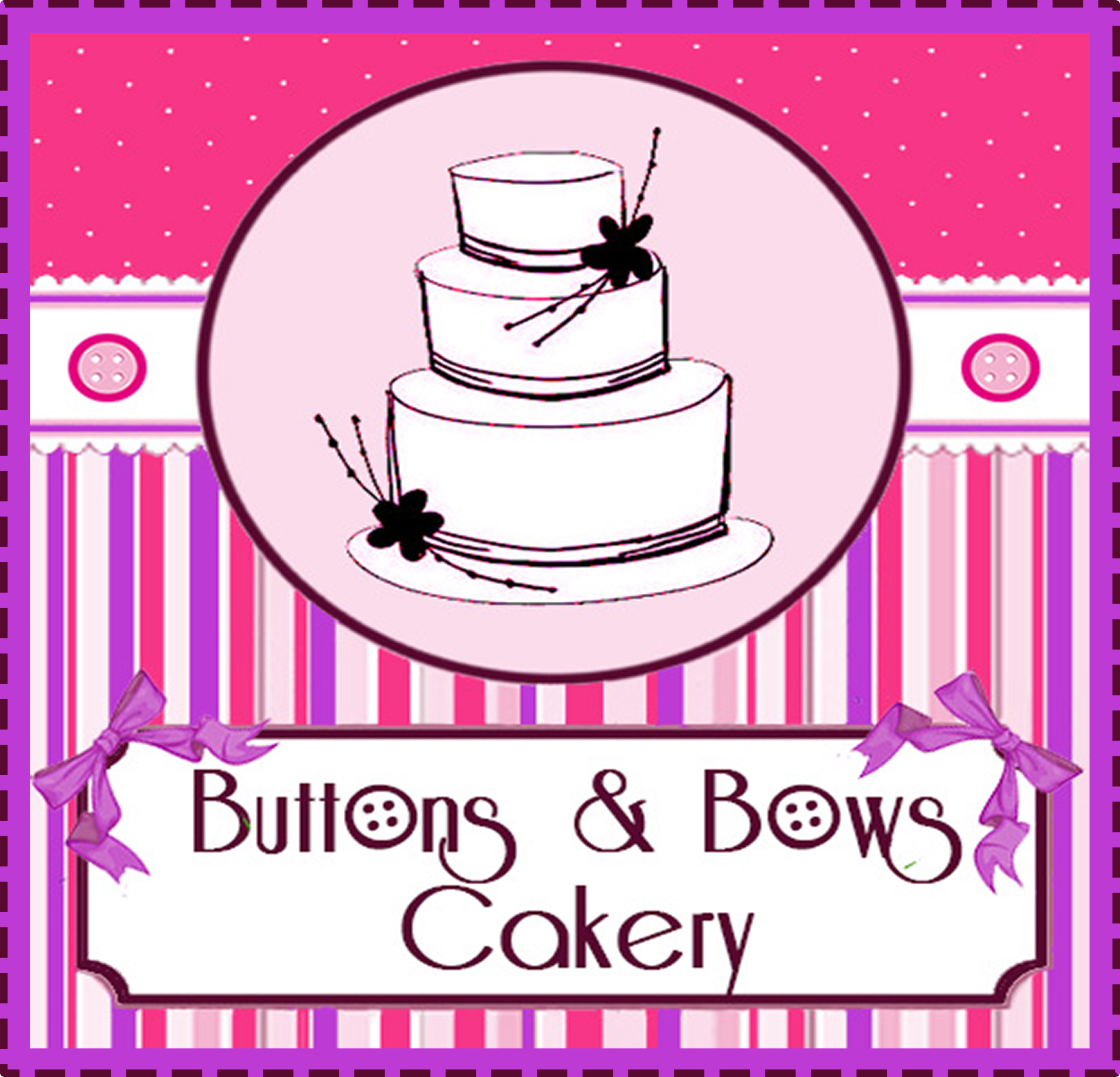 Buttons u0026 Bows Cakery - Buttons And Bows PNG