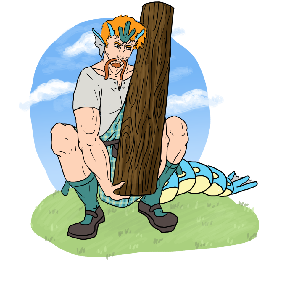 . PlusPng.com Isle Competition Caber Toss by Emilee-Mae - Caber Toss PNG