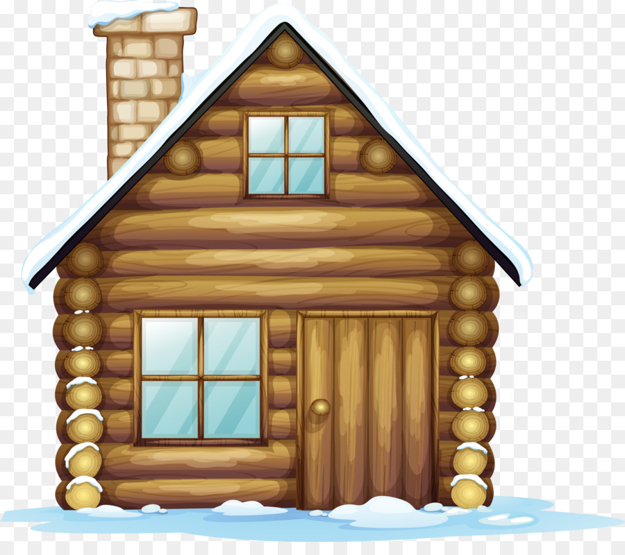 Gingerbread house Christmas Clip art - cabin - Cabin PNG Free