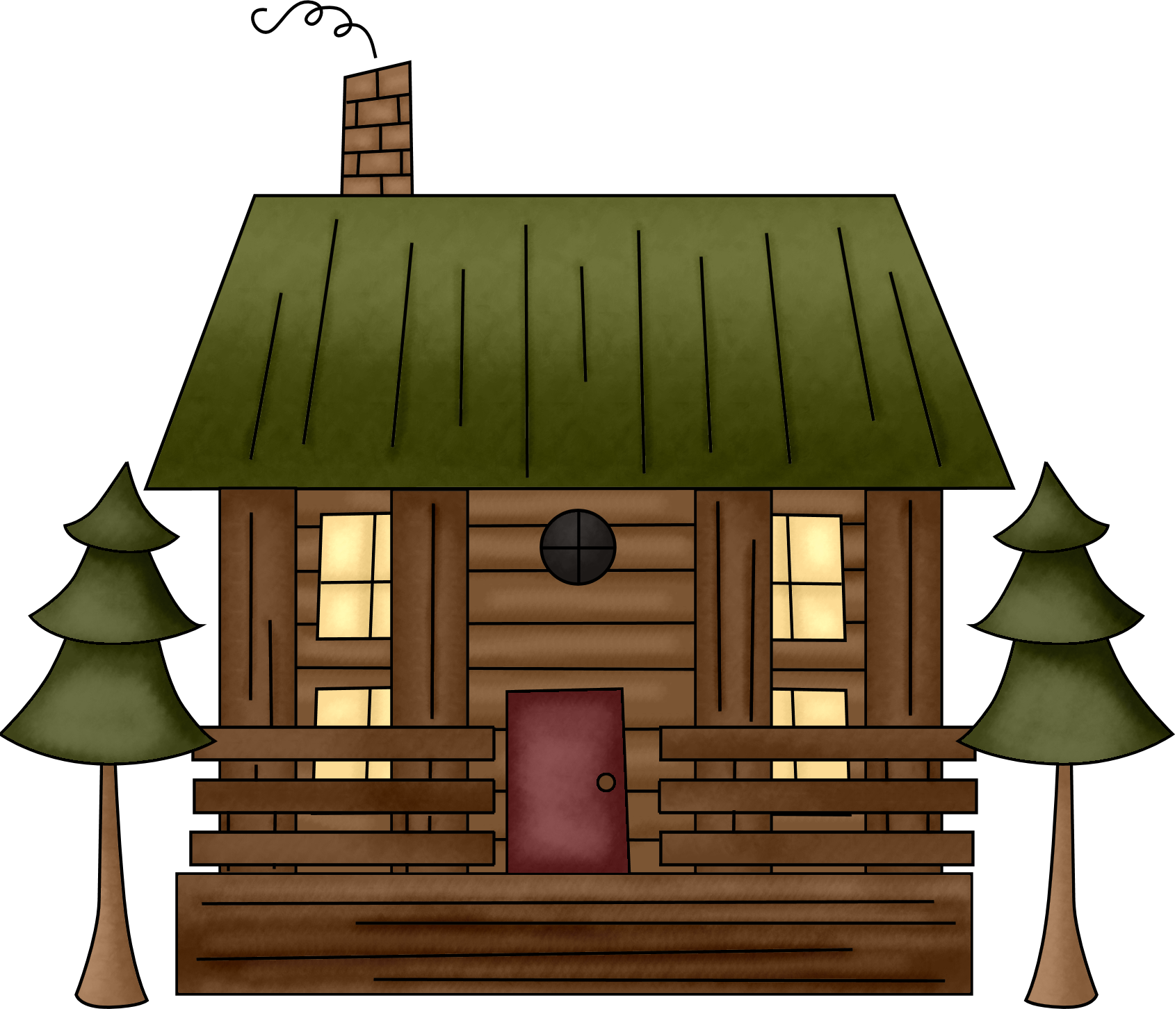 pin Camping clipart cabin in woods #11 - Free PNG Log Cabin Woods - Cabin PNG Free