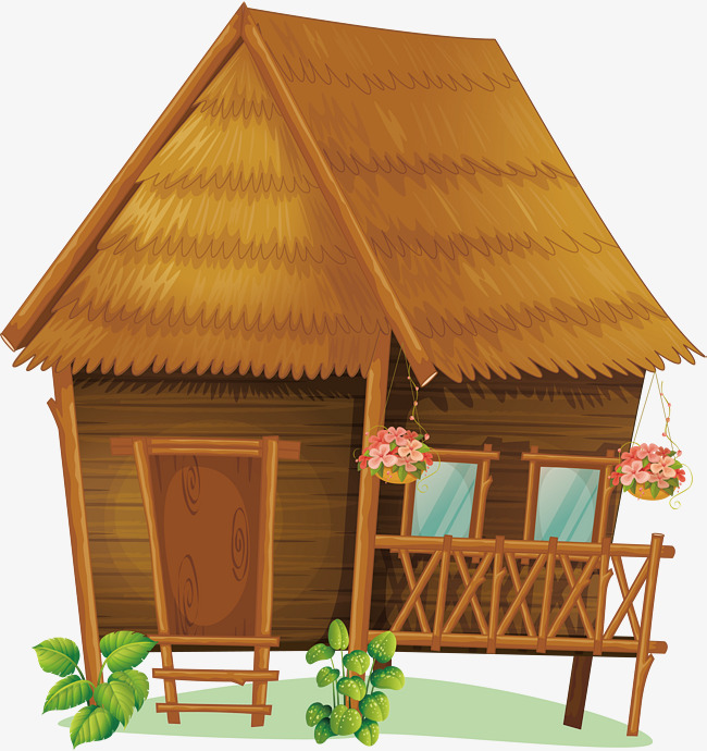 seaside chalet, Vector Png, Log Cabin, Straw House PNG and Vector - Cabin PNG Free