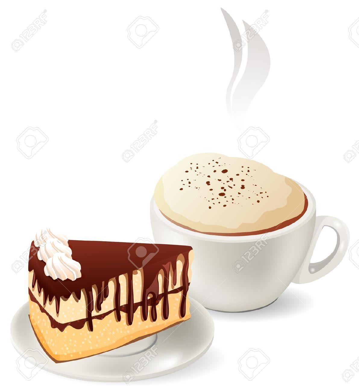 Kaffee Und Kuchen Clipart Schwarz Weiß