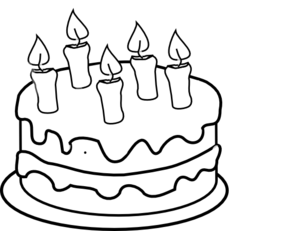 Cakes PNG Black And White