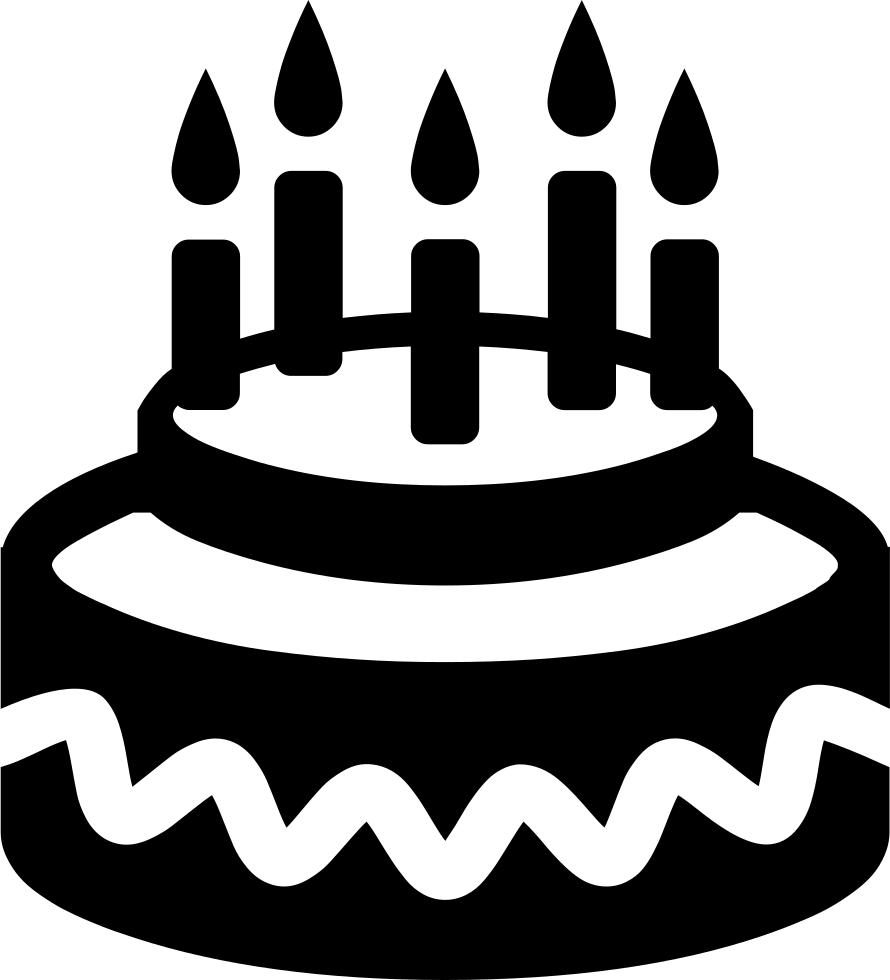 Black Candles Birthday Cakes