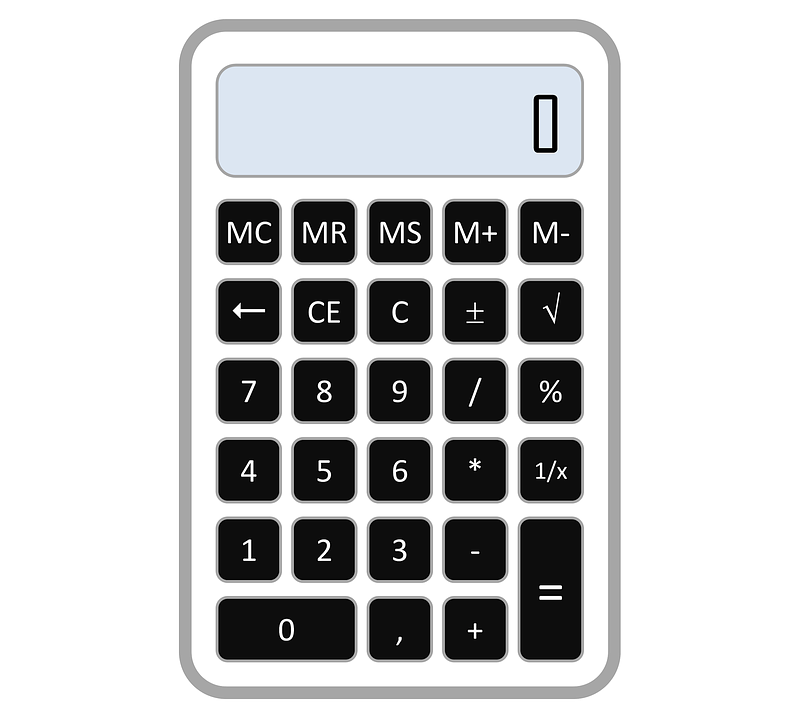 Calculator, Accounting, Numbe