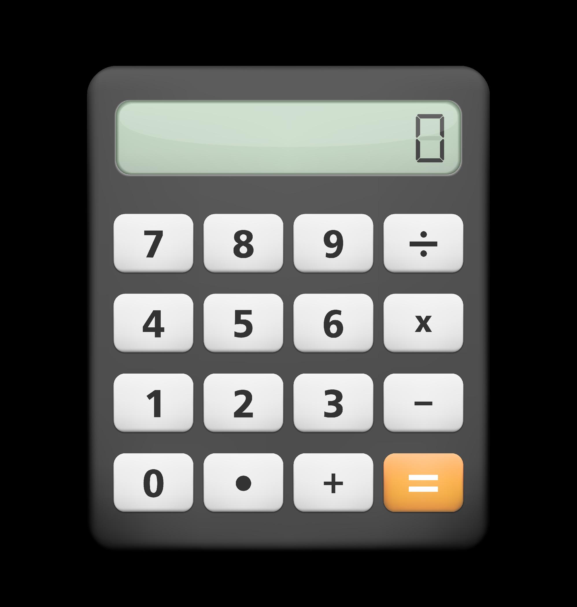 Calculator White Background H