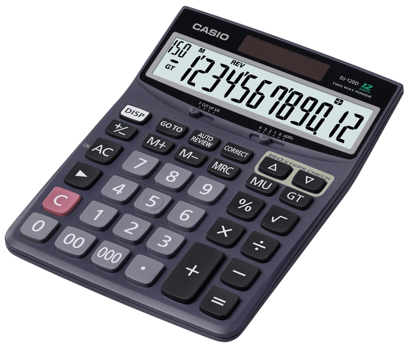 DJ-120D. Portable Desktop Calculator - Calculator HD PNG