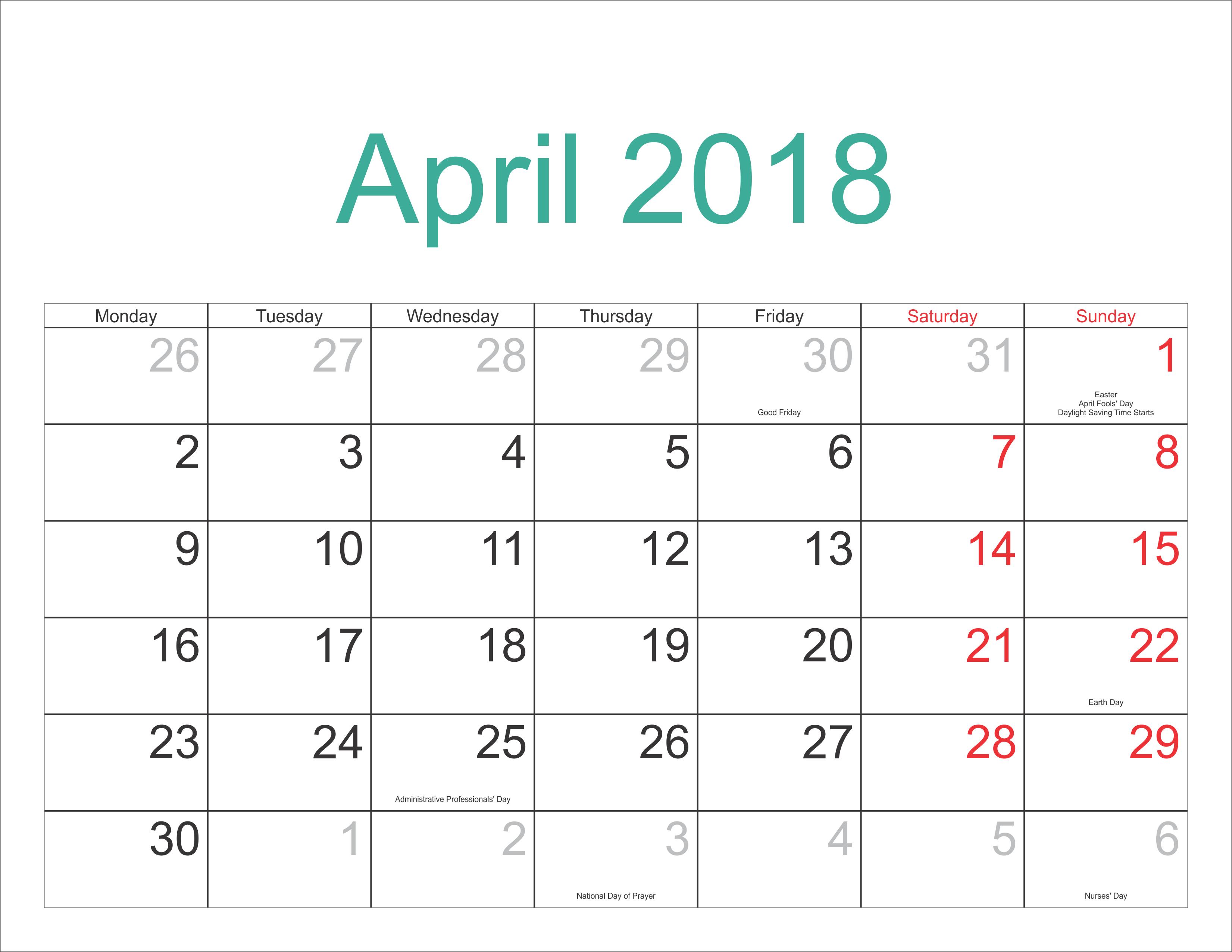 Calendar April PNG-PlusPNG.com-3302 - Calendar April PNG
