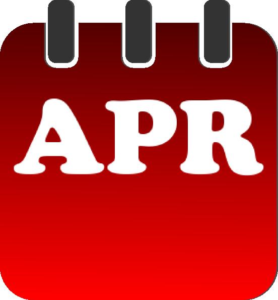 Download this image as: - Calendar April PNG