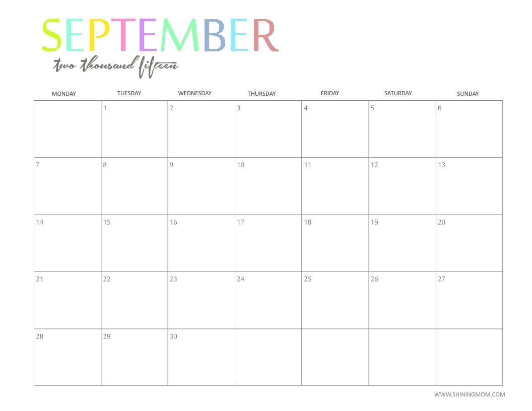 download printable calendar 2015