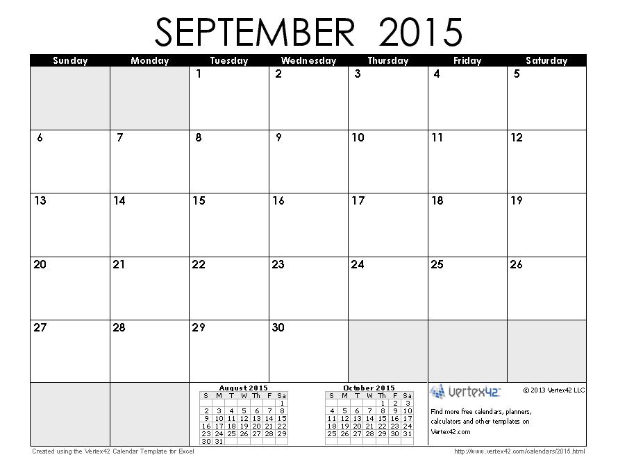 September Calendar Cliparts #2585941 - Calendar PNG September 2015