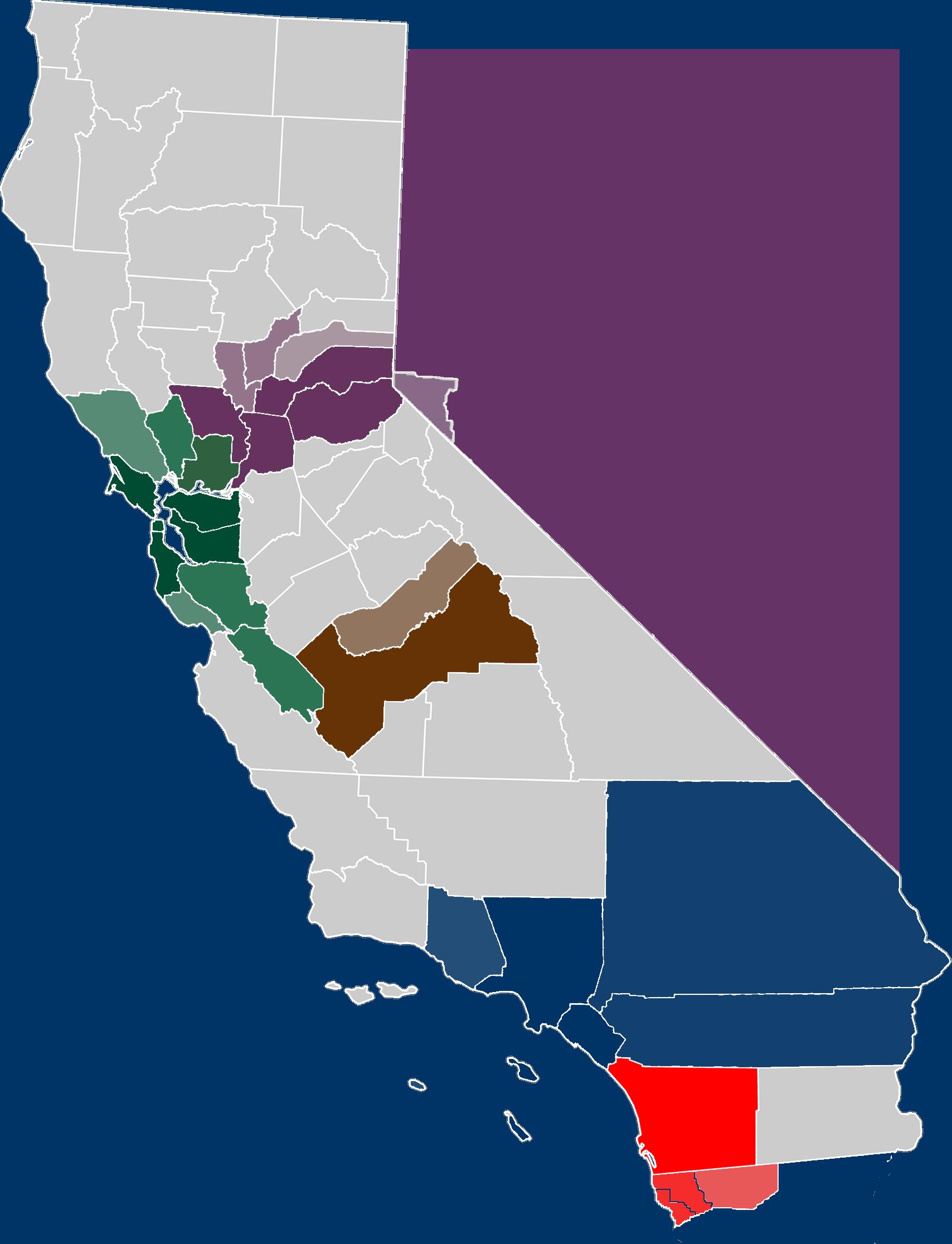 California Map PNG - 144914