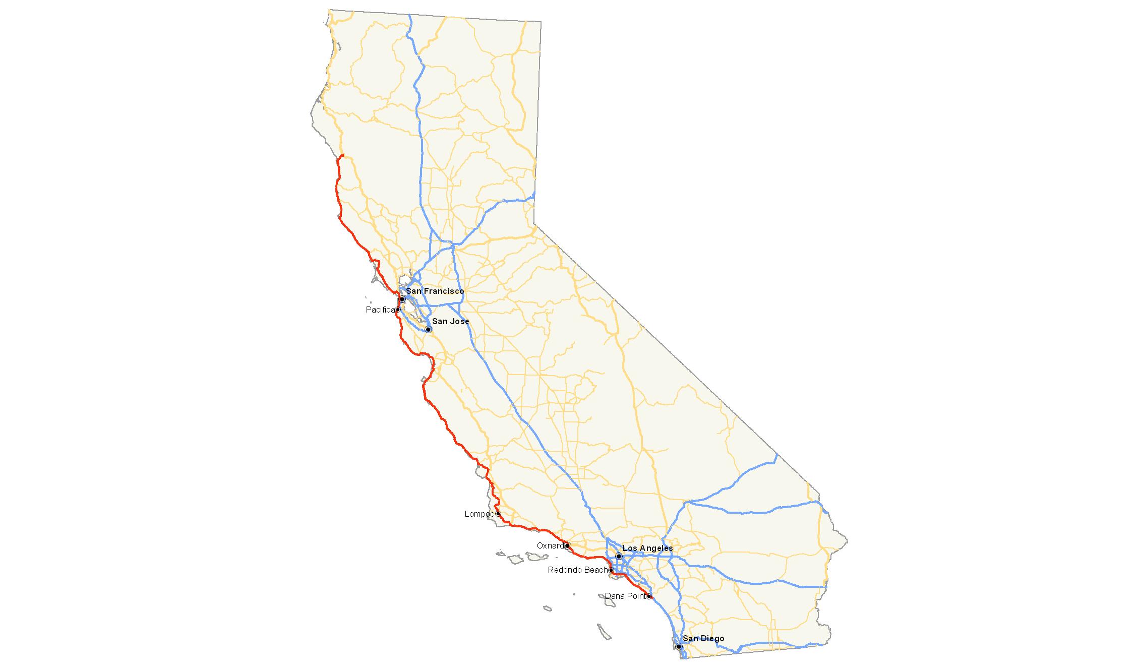 California Map PNG - 144905