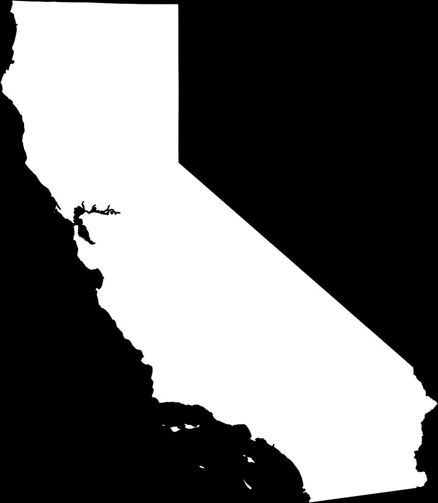 California Map PNG - 144902