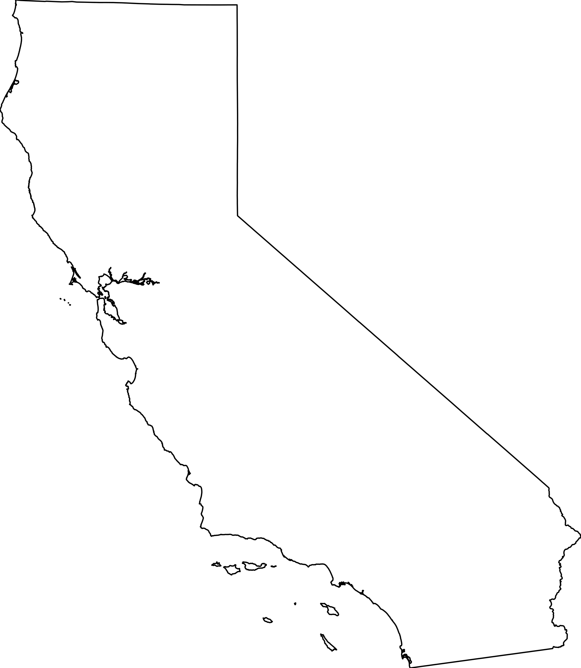 California Map PNG