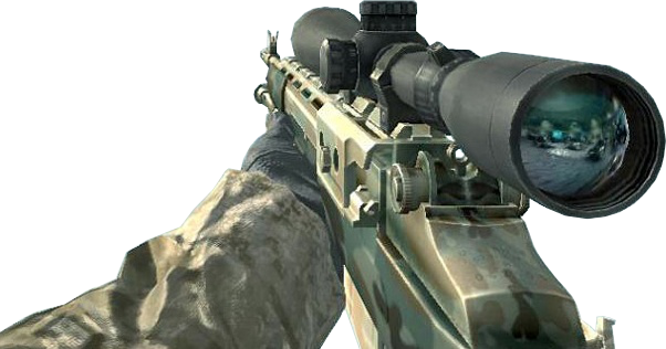 M21 Woodland CoD4.png - Call Of Duty PNG