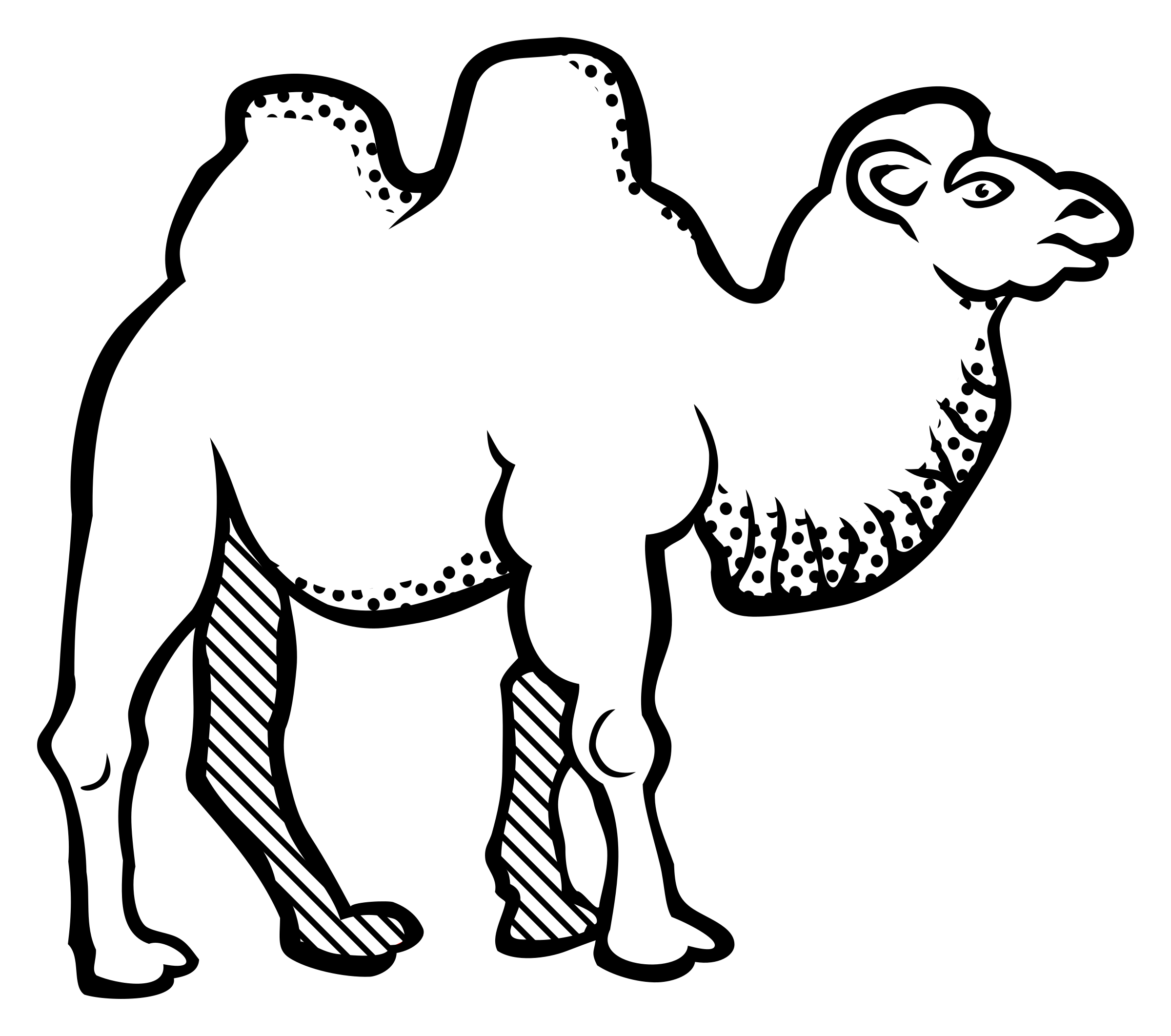 Camel png black and white transparent camel black and white