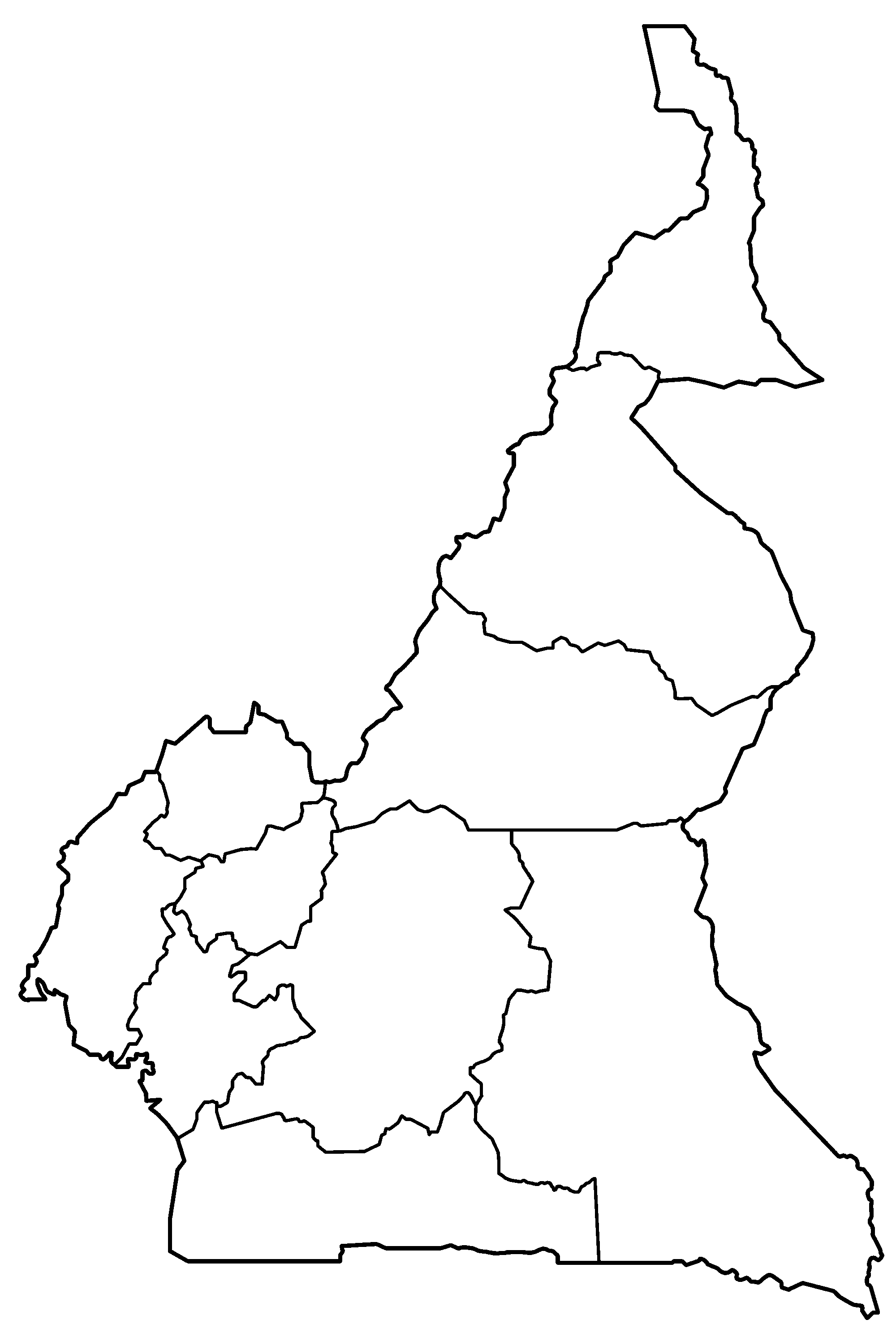 File:Cameroon provinces blank.png - Cameroon PNG