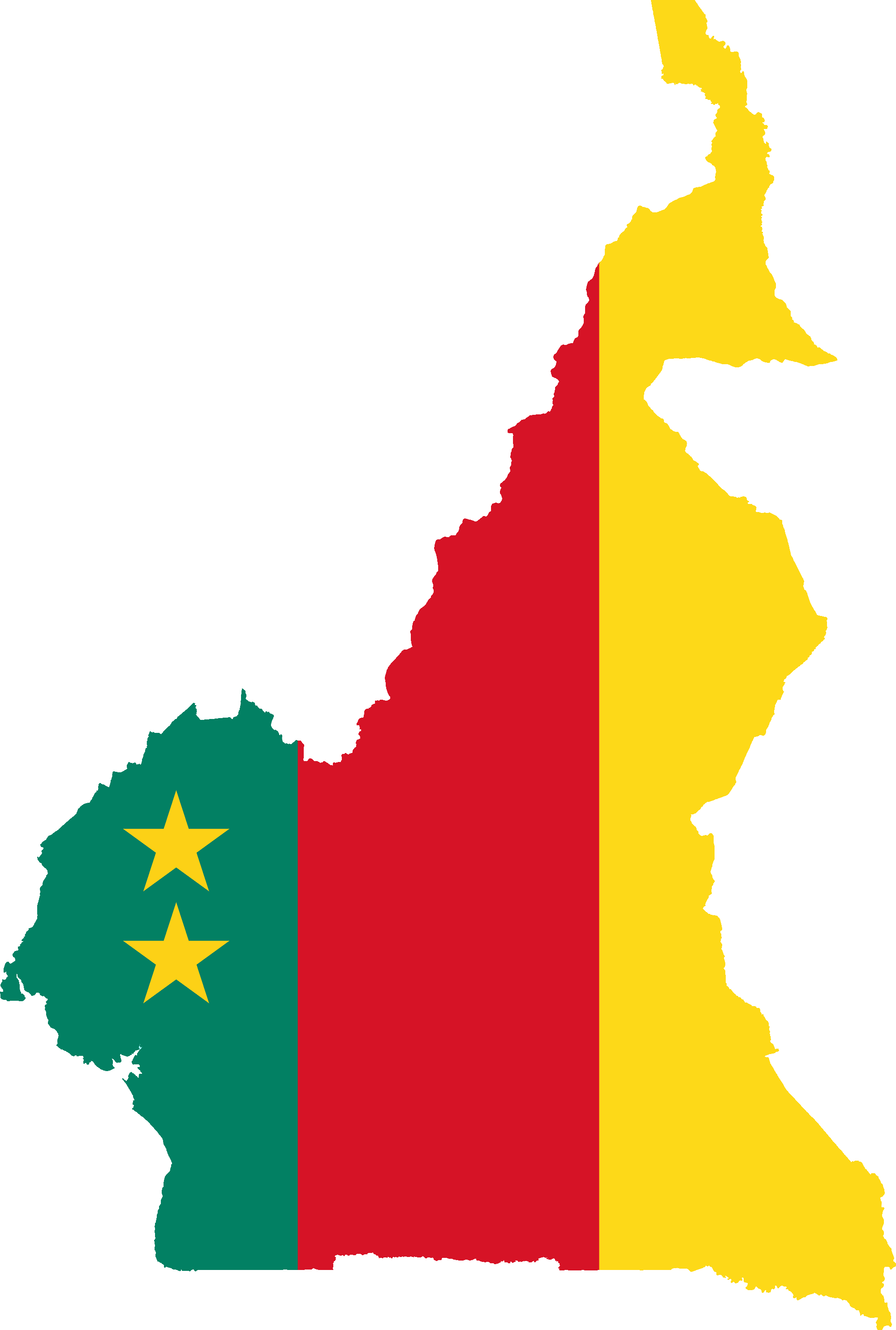 File:Flag Map Of Cameroon (1961-1975).png - Cameroon PNG