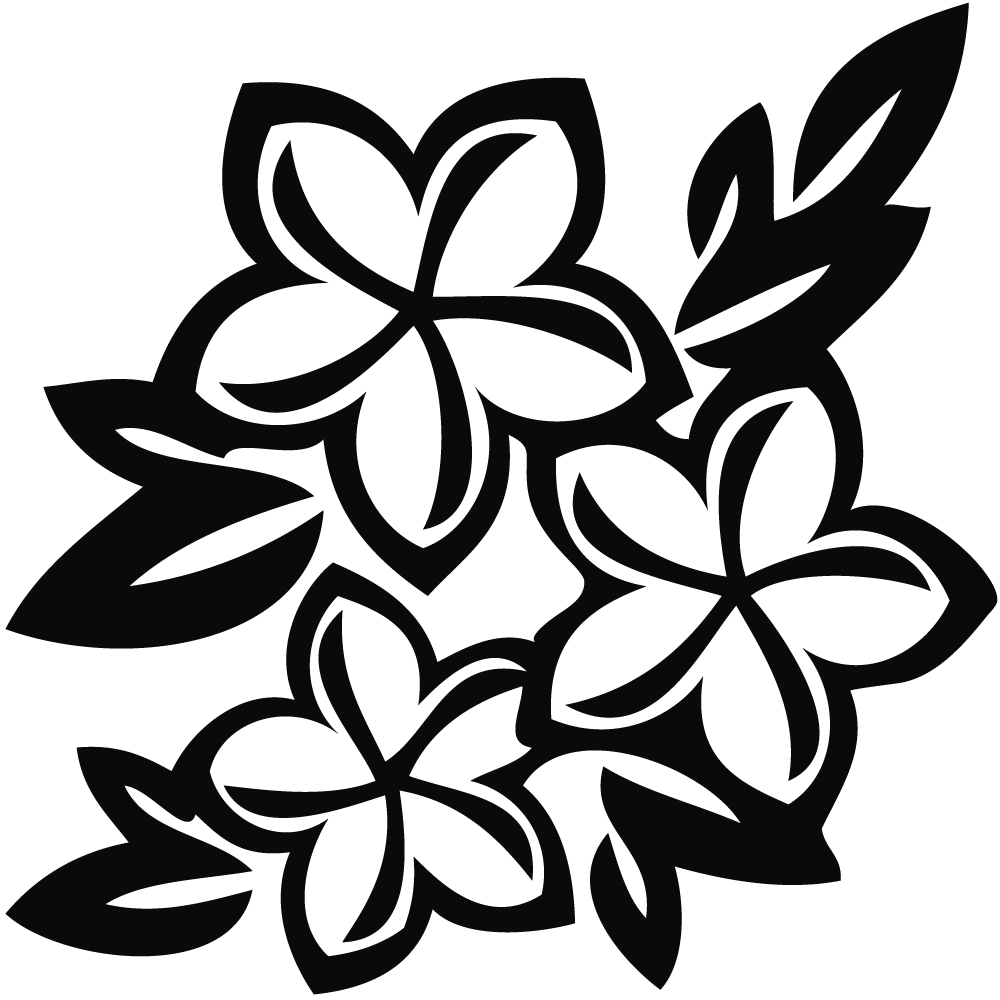 Jasmine Flower Clip Art Black and White - Jasmine PNG Black And White - Camia Flower PNG