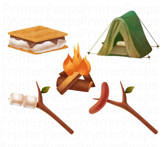 pin Marshmellow clipart smore #7 - Campfire Smores PNG