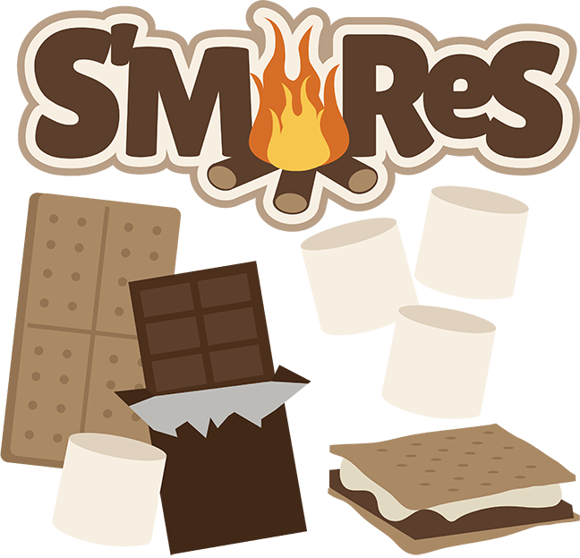Su0026Black And White Clipart - Campfire Smores PNG