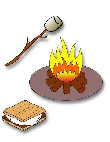 Smores mores clip art - Campfire Smores PNG
