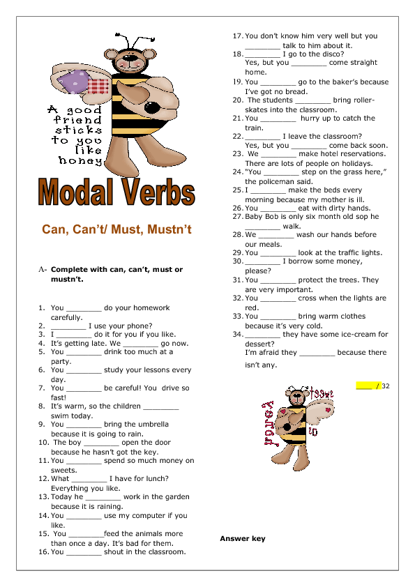 Can, Canu0027t / Must, Mustnu0027t Elementary Worksheet - Can Cant PNG