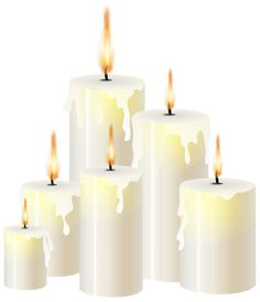White Candles PNG Clip Art - Candle  PNG HD