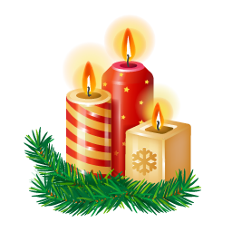 Christmas candle PNG image - Candles PNG