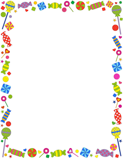 Candy Border - Candy PNG HD Border