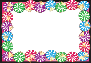 Hard Candy Border - Candy PNG HD Border