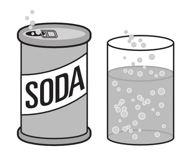 Soda clipart black and white