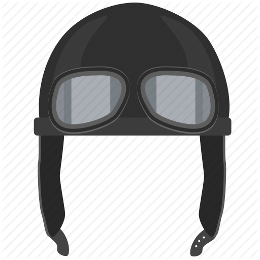 hat, helm, old, pilot, retro, vintage icon - Cap And Goggles PNG