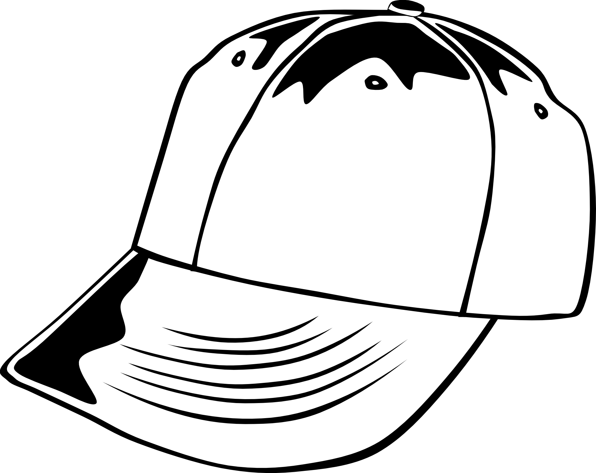 Cap PNG Black And White