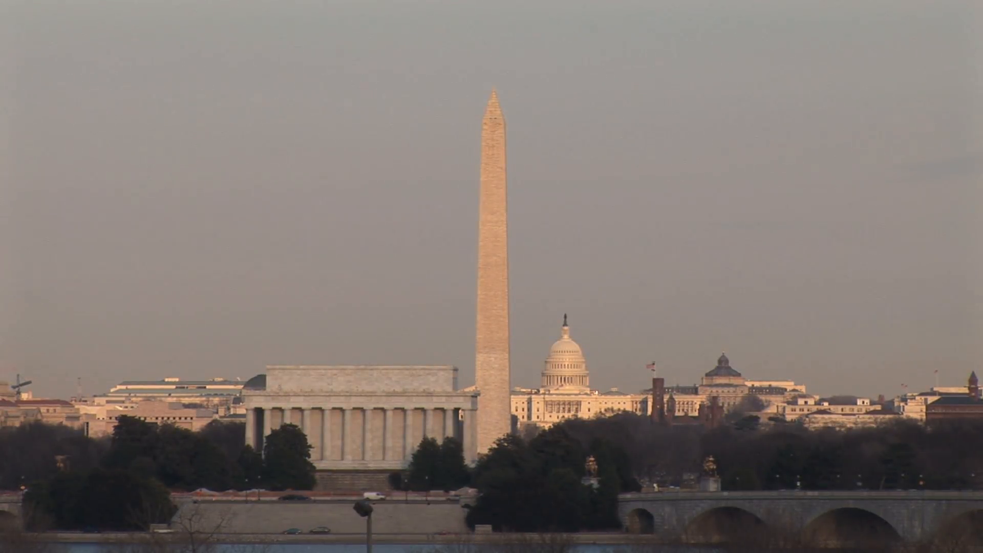 HD ES: Washington DC Skyline Highlights The Washington Monument, The US  Capitol Building, And The Lincoln Memorial. Filmed Using A Sony EX-3 Circa  2016 PlusPng.com  - Capitol Building PNG HD