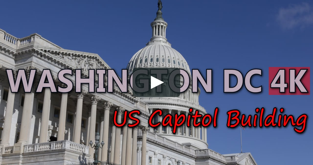 UHD Ultra HD 4K Video Stock Footage Washington DC United States US Capitol  Building Aerial View City On Vimeo - Capitol Building PNG HD