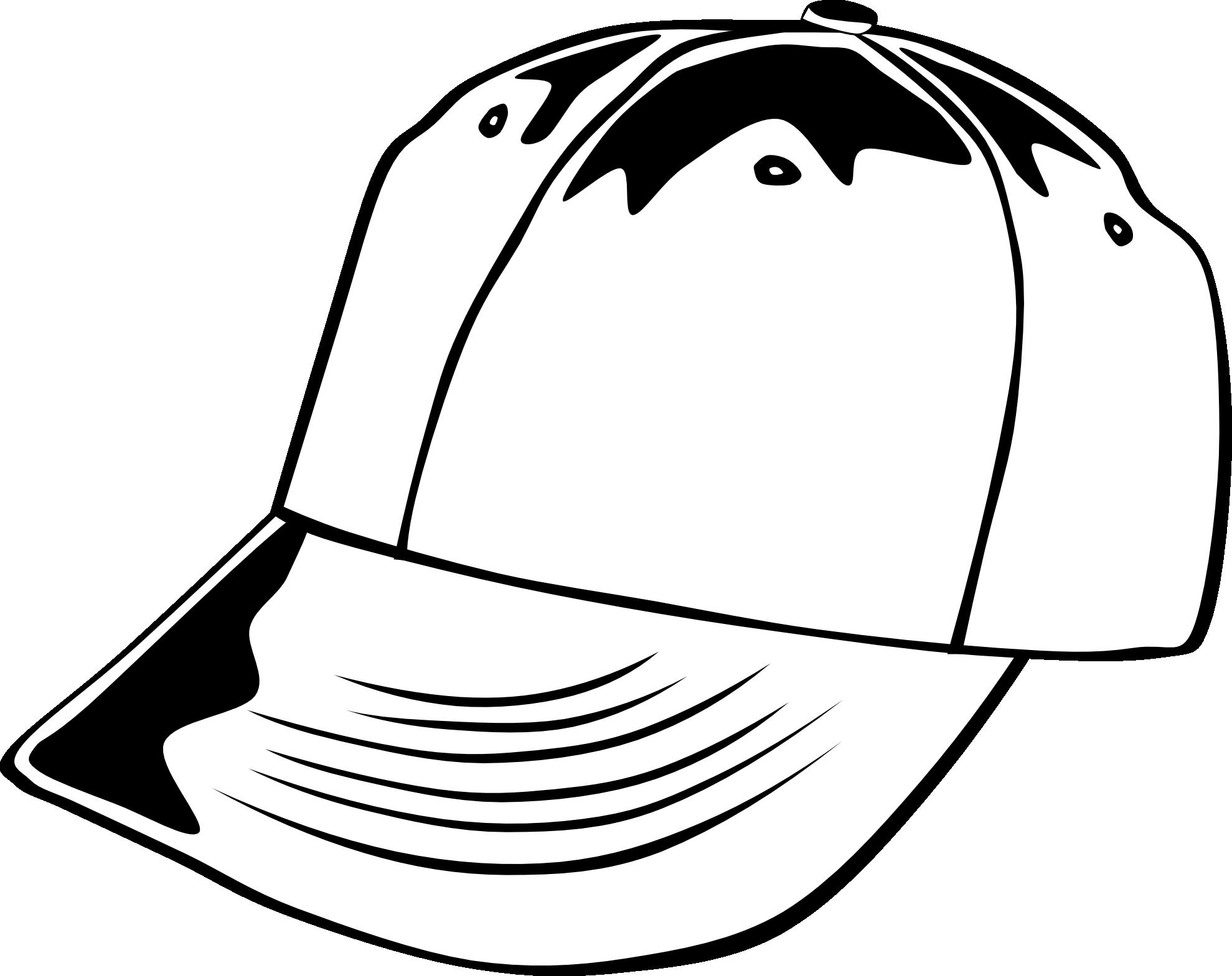d5fd76eda37 Baseball clipart black and white  Baseball Cap 1 Black White - Caps PNG  Black And